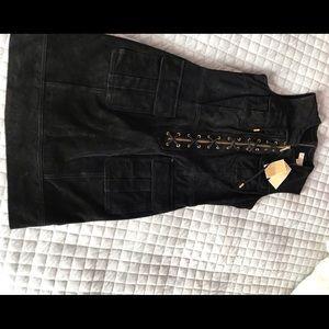Michael Kors black suede dress